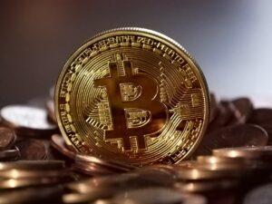 Bitcoin mønt i virkeligheden
